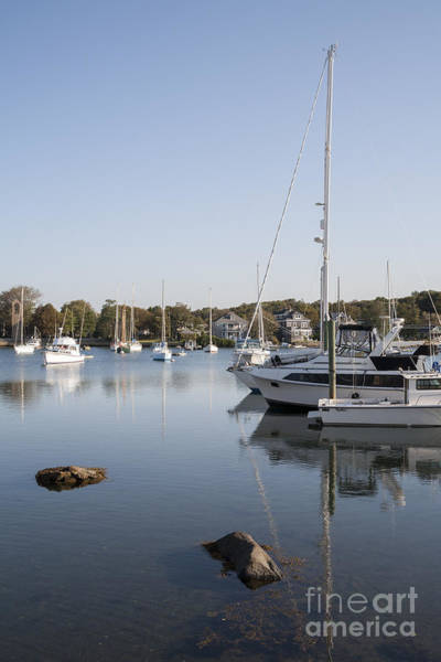 Photograph - Small Harbor At Woods Hole On Cape Cod. Massachusetts by William Kuta