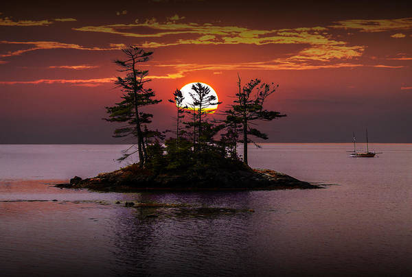 Photograph - Small Island At Sunset by Randall Nyhof