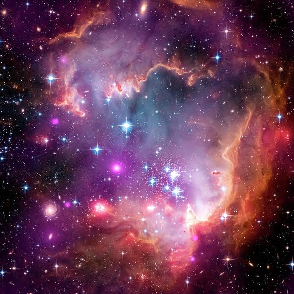 Infrared Radiation Photograph - Small Magellanic Cloud by Nasa/cxc/jpl-caltech/stsci