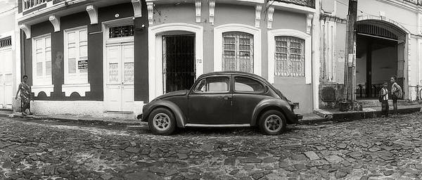 Salvador Photograph - Small Old Car Parked In Front by Panoramic Images