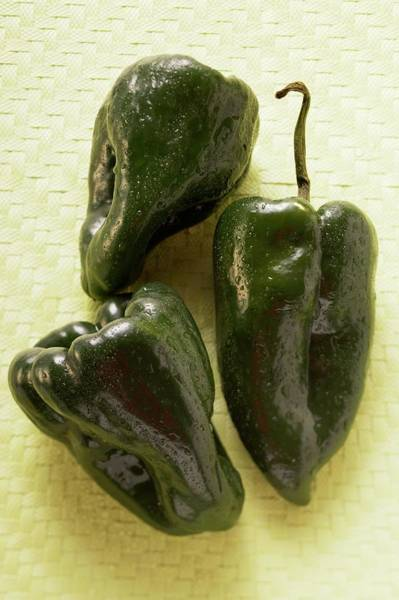 Wall Art - Photograph - Small Peppers (poblano From Mexico) by Foodcollection