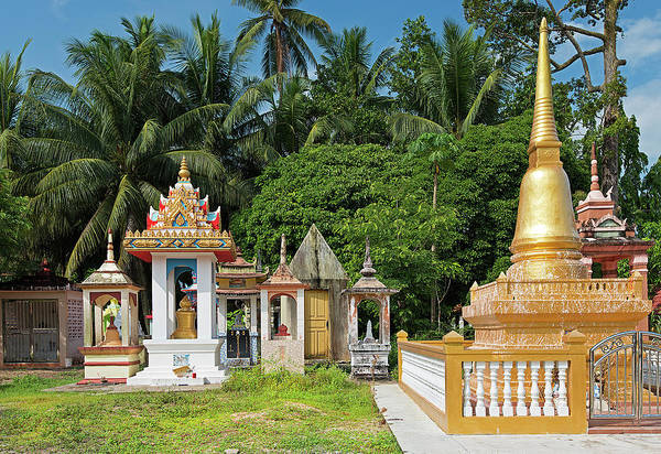 Ground Photograph - Small Stupas On Temple Grounds by Andrew Tb Tan