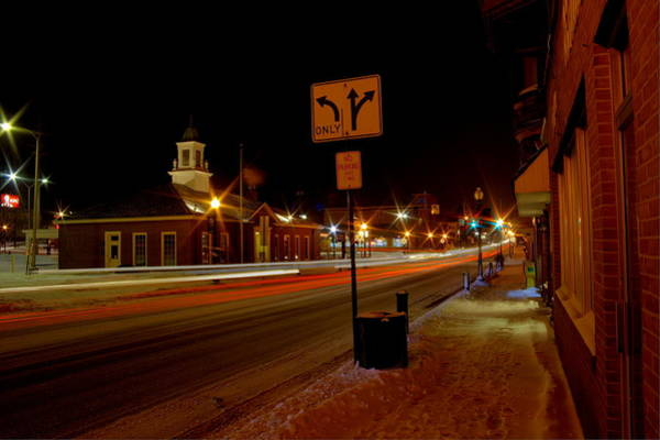 Photograph - Small Town In Winter by David Dufresne