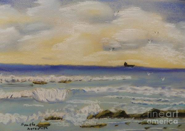 Wall Art - Painting - Small Waves by Pamela  Meredith