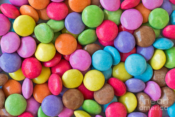 Wall Art - Photograph - Smarties by Delphimages Photo Creations