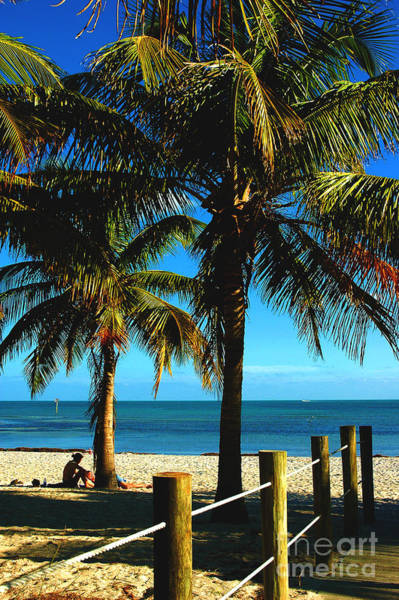 Photograph - Smathers Beach In Key West by Susanne Van Hulst