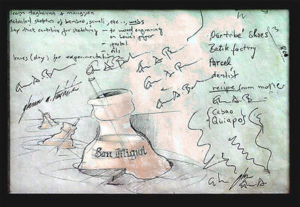 Digital Art - Smb Digi-ana Sketch 1980 by Glenn Bautista