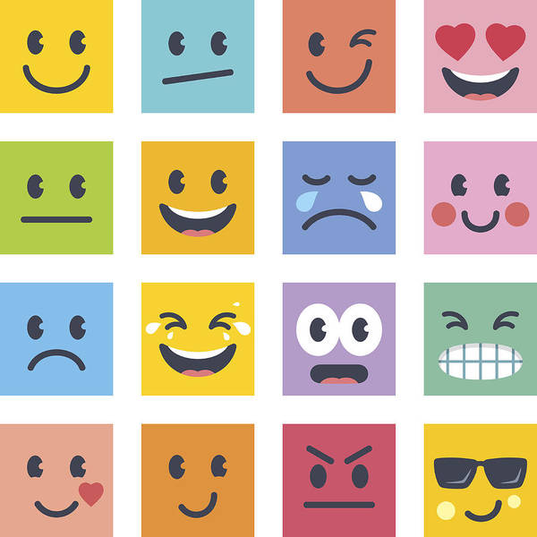 Smile Icons Art Print by GoodGnom