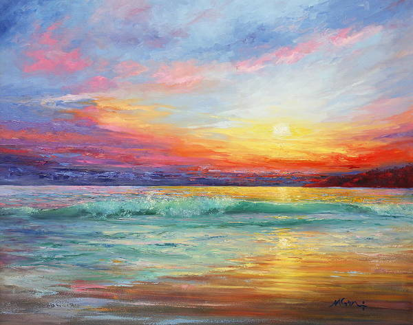 Beautiful Sky Painting - Smile Of The Sunrise by Marie Green