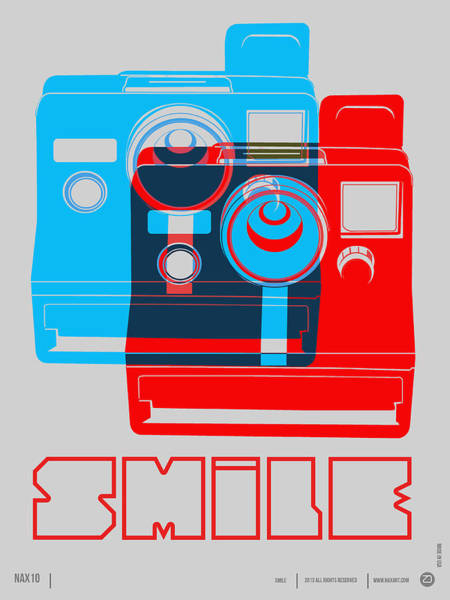 Amusing Wall Art - Digital Art - Smile Polaroid Poster by Naxart Studio
