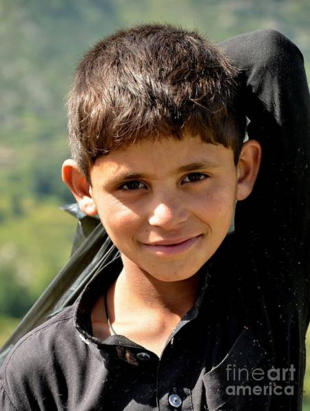 Smiling Boy In The Swat Valley - Pakistan Art Print
