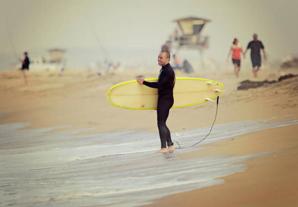 Photograph - Smiling Young Man With Surfboard by Susangaryphotography