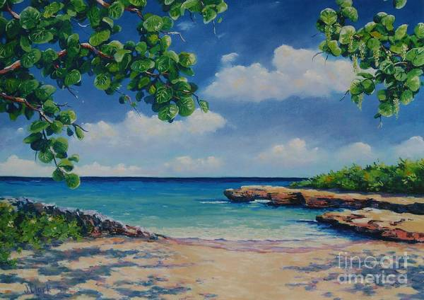 Cayman Painting - Smith Cove 16x23 by John Clark