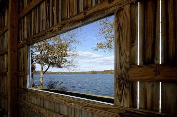 Wall Art - Photograph - Smith Mountain Lake   Window View by Brendan Reals