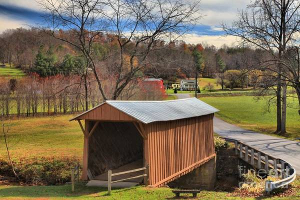 Photograph - Smith River Covered Bridge by Adam Jewell