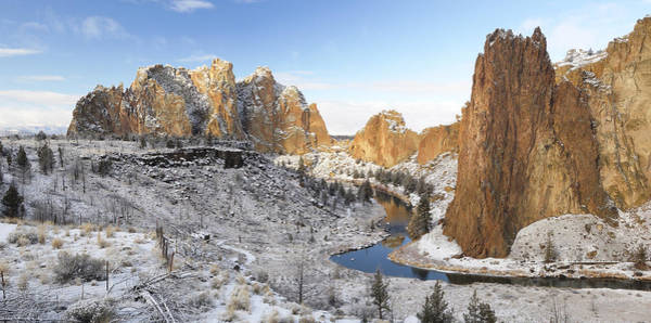 Crooked River Photograph - Smith Rock In Winter by Christian Heeb