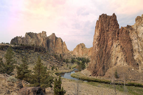 Crooked River Photograph - Smith Rock State Park In Oregon by King Wu