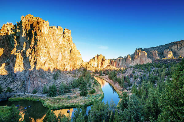 Crooked River Photograph - Smith Rocks State Park And Crooked by Andrew Peacock