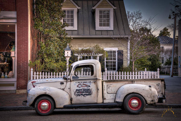 Smithfield Truck Art Print by Williams-Cairns Photography LLC