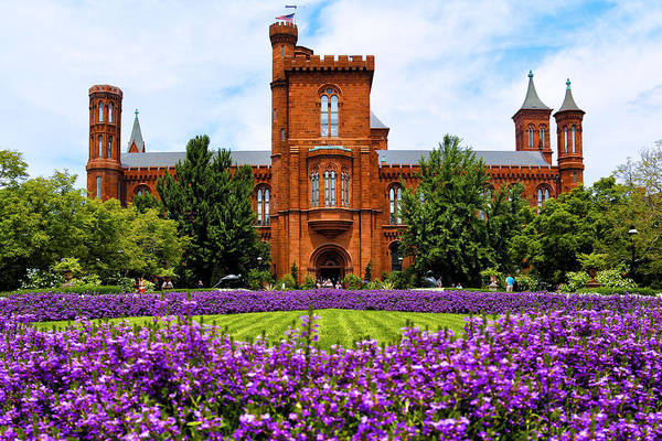 Smithsonian Photograph - Smithsonian Castle by Mitch Cat
