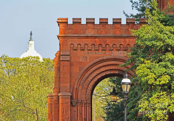 Smithsonian Photograph - Smithsonian Entrance 1136 by Jack Schultz