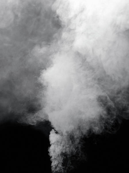 Photograph - Smoke Billowing From Ground by Steven Puetzer