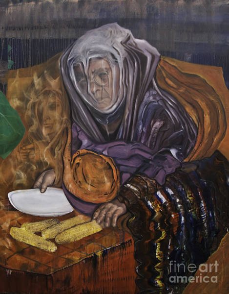 Painting - Smoke Corn And Memories by James Lavott