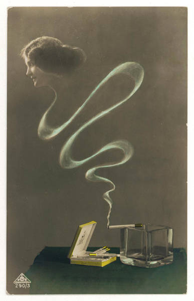 Wall Art - Drawing - 'smoke Dreams'          Date Circa 1910 by Mary Evans Picture Library