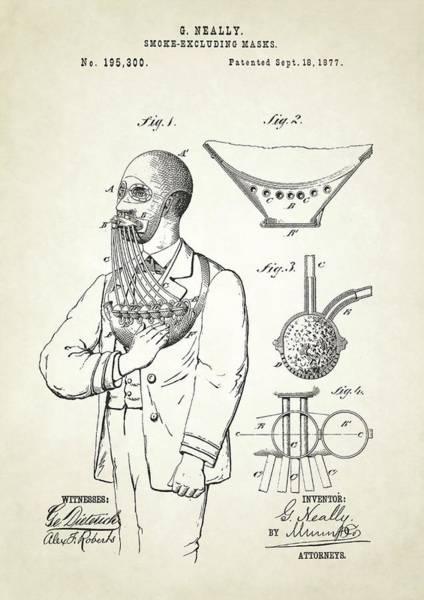 Smoke Excluding Mask Patent Art Print