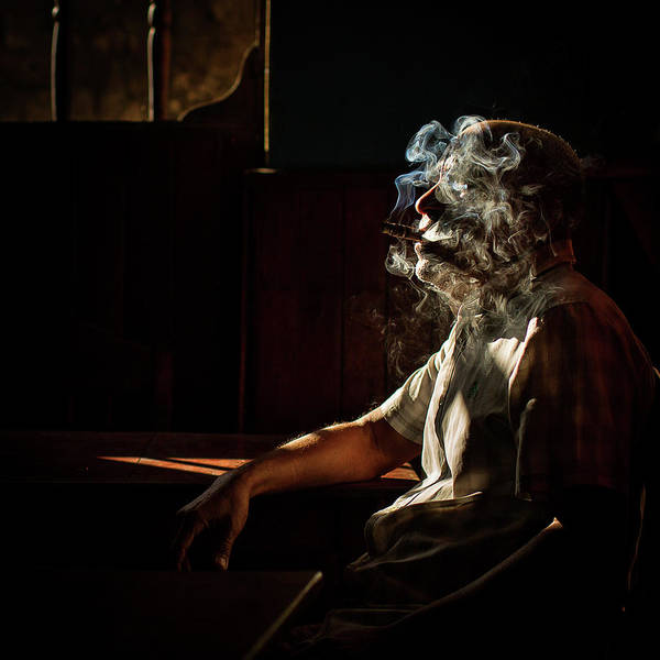 Wall Art - Photograph - Smoked In Havana, Cuba by Dan Mirica