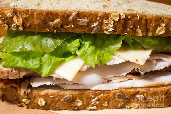 Wall Art - Photograph - Smoked Turkey Sandwich by Edward Fielding
