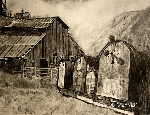 Homestead Drawing - Smokehole In The Highlands by Sid Weaver