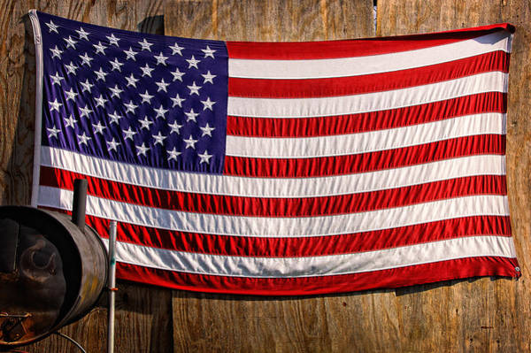 Photograph - Smoker Flag by Steve Stanger