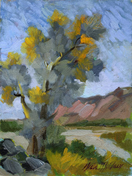 Wall Art - Painting - Smoketree On A Warm Day by Diane McClary