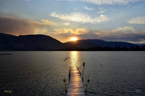 Photograph - Smokey-001 Sunset Over Skaha Lake by Guy Hoffman