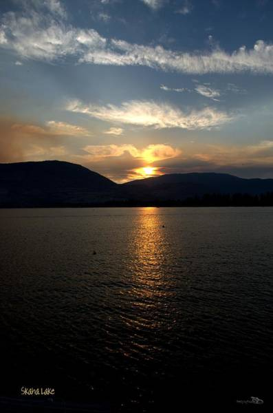 Photograph - Smokey-002 Sunset Over Skaha Lake by Guy Hoffman