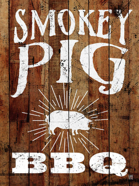 Bbq Painting - Smokey Pig Bbq by Aubree Perrenoud