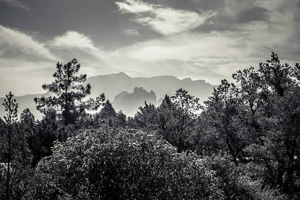 Photograph - Smokey Sedona Mountians  by Chris Bordeleau