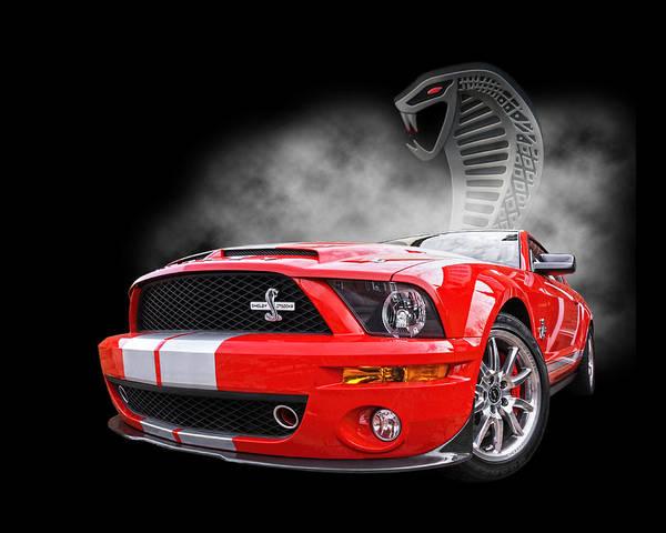 Photograph - Smokin' Cobra Power - Shelby Kr by Gill Billington
