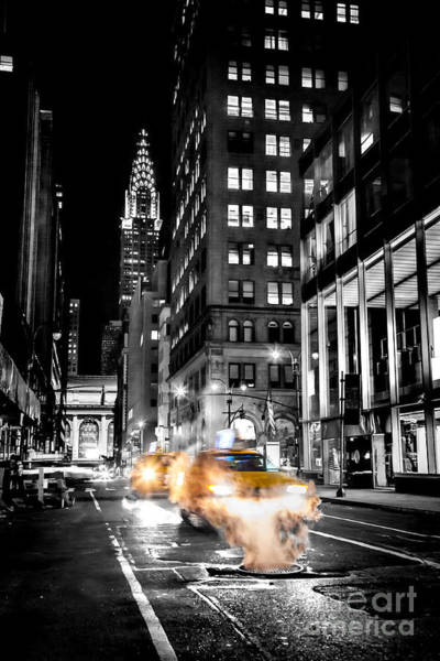 Yellow Taxi Photograph - Smoking Streets Of New York  by Az Jackson
