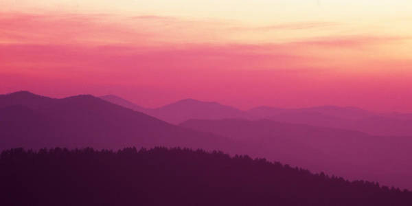 Photograph - Smoky Mountain Afterglow by Harold Rau