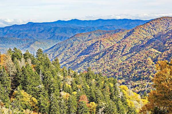 Photograph - Smoky Mountain Autumn Vista by Simply  Photos
