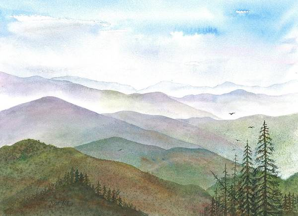 Smoky Mountain Morning Art Print by Rosie Phillips