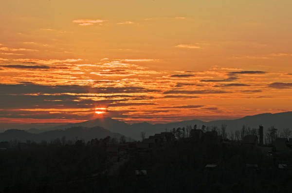 Photograph - Smoky Mountain Sunset by Sharon Popek