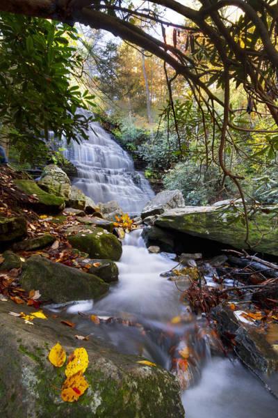 North Carolina Waterfalls Photograph - Smoky Mountain Waterfall by Debra and Dave Vanderlaan