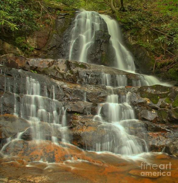 Photograph - Smoky Mountains Laurel Falls by Adam Jewell
