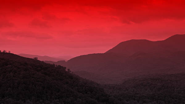 Alpen Glow Wall Art - Photograph - Smoky Mountians Red by Stephen Stookey