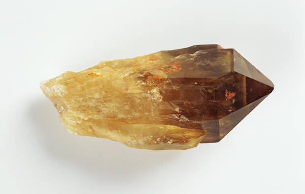 Silicon Dioxide Photograph - Smoky Quartz Crystal by Dorling Kindersley/uig
