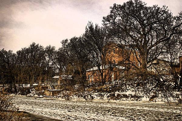 Digital Art - Smoky Valley Rolling Mill In Winter by Ben Shields