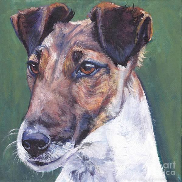 Fox Terrier Wall Art - Painting - Smooth Fox Terrier by Lee Ann Shepard